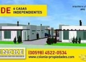 6 casitas totalmente independientes