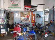 Vendo llave taller de motos, excelente ubicacion y renta
