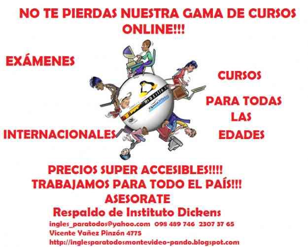 Cursos de Inglés Online!!!