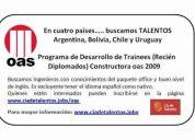 Programa de trainees constructora oas