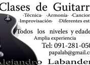 Clases de guitarra pocitos o domicilio (mvdeo y pque del plata).
