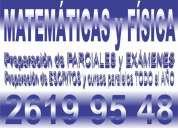 Clases particulares mátematicas y física   2619 95 48