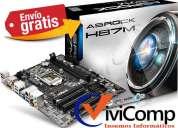Motherboard asrock h87m intel socket 1150 envio gratis