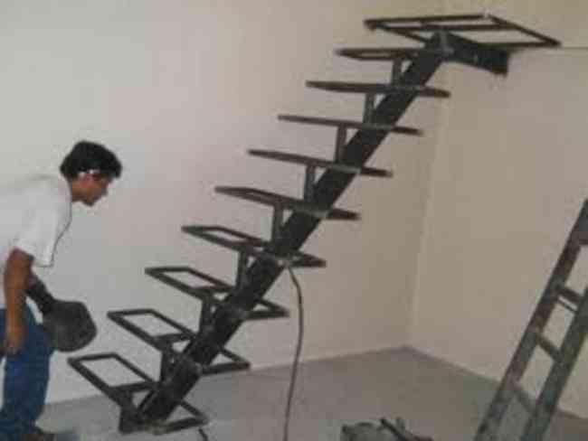 Escaleras en hierro interior exterior sayago doplim 67634 - Escaleras de hierro para exterior ...