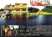 Hermosa ecocabaña con lago privado