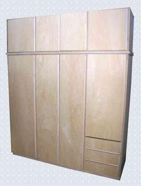 Placares y roperos en madera directo de fabrica y con for Muebles madera montevideo