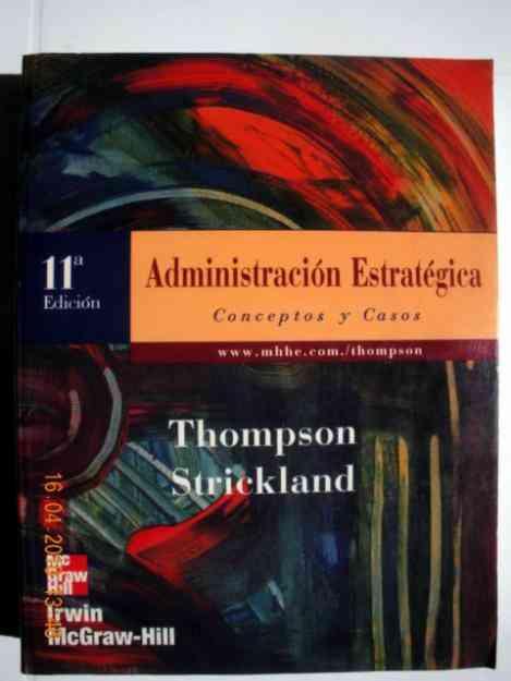 Libro Administraciu00f3n Estrategica - Thompson Strickland - Montevideo ...