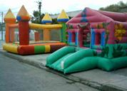 Alquiler de castillos inflables, cama elastica, algodon de azucar
