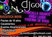 Discoteca para fiestas, eventos en general, pantalla gigante y show laser 098964380