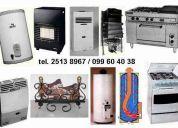 Service reparacion de estufas de patio tipo sombrilla garrafa leños leñogas calefactores