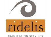 Fidelis translation services
