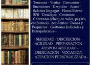 Abogado (laboral – familia – civil – penal)