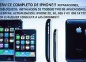 Reparacion de celulares!! service iphones, instalacion de aplicaciones, instalacion gps !!