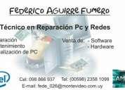 Tecnico en reparacion pc y redes - docente instituto bios - sayago