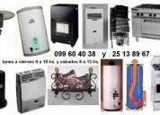 Calefon gas y electrico cocinas termotanques estufas garrafa y patio y leñogas calefactor