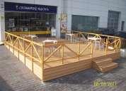 Decks, pergolas, gazebos, muelles, puentes, maceteros, techos, suelos, casetas, cabaÑas