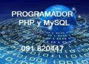 Programador php y mysql freelance en montevideo 091 820447