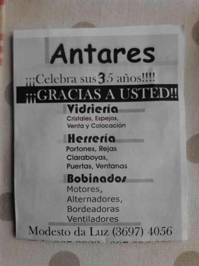 HERRERIA , REFRIGERACIÓN , VIDRIERIA !!!!!!!