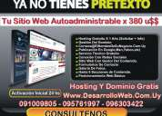 Su sitio web autoadministrable express :