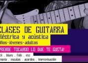 Clases de guitarra en parque rodó, rock, blues, jazz, bossa nova, pop, etc