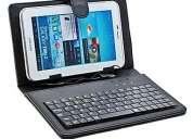 Estuche con teclado usb o micro usb y lapiz optico, tablet 7, nuevos, quedan 2 unidades