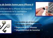 Apple iphone 4 boton home inicio colocado en el momento, insuperable calidad