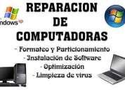 Reparación de pc escritorio, notebook y netbook