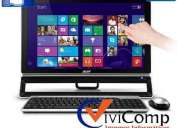 All in one acer azs600-sr308 intel core i3 touch 23 4gb 1tb