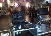 Discoteca, audio, iluminación, pantalla gigante