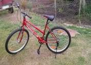 Vendo bicicleta con cambios de dama sin uso
