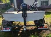Bote con motor y trailer oferta unica