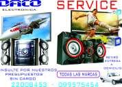 reparacion de equipos de audio  tv lcd led